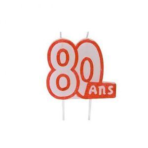 BOUGIE ANNIVERSAIRE Bougie anniversaire 80ans (x1) REF/BGA1104/80
