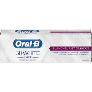 DENTIFRICE ORAL B 3D White Luxe Éclat et Glamour 75ml