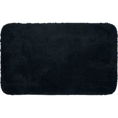 Tapis De Salle De Bain Lex Noir 70 X 120 Cm Couleur Noir