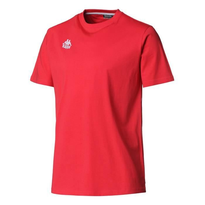 KAPPA T-shirt Manches Courtes - Homme - Rouge