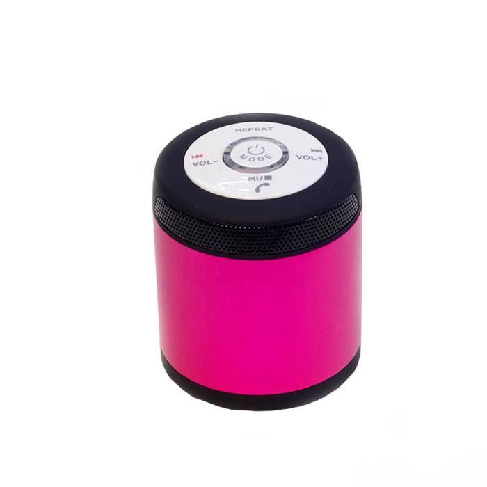 Tenoens® Stéréo Portable Sans Fil Bluetooth Fm Haut-parleur Pour Smartphone Tablet Pk Rose_poi292