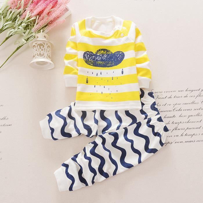 517bda70b8 Clouds Garçons Filles Enfants Coton Pyjama Bébé Four Seasons Sous-vêtements  Ensembles