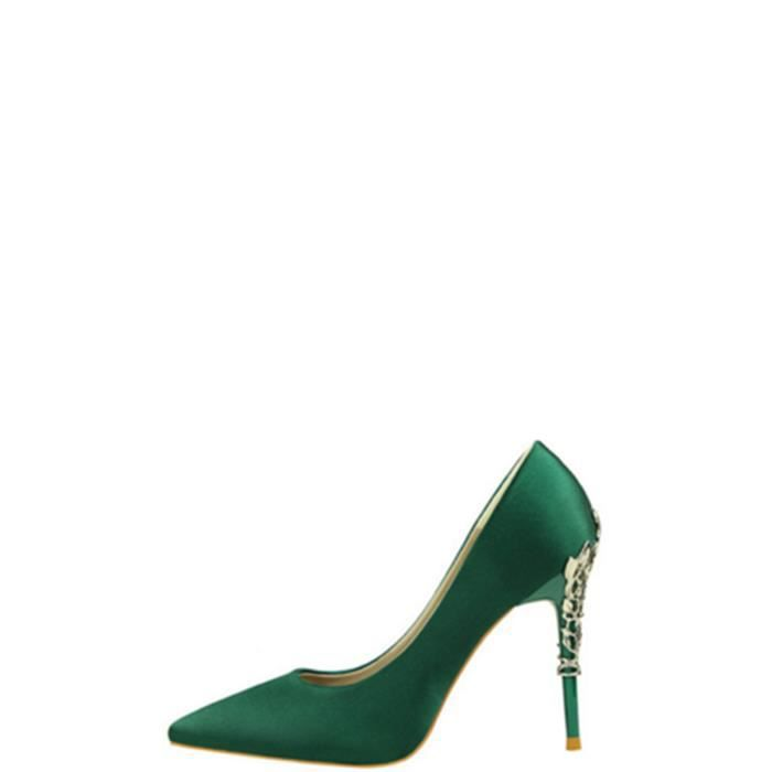 Escarpin Femmes Pompes Ladylike mince Heeled Cusp Parti de mariage solide Chaussures 5441396 mXCfpP