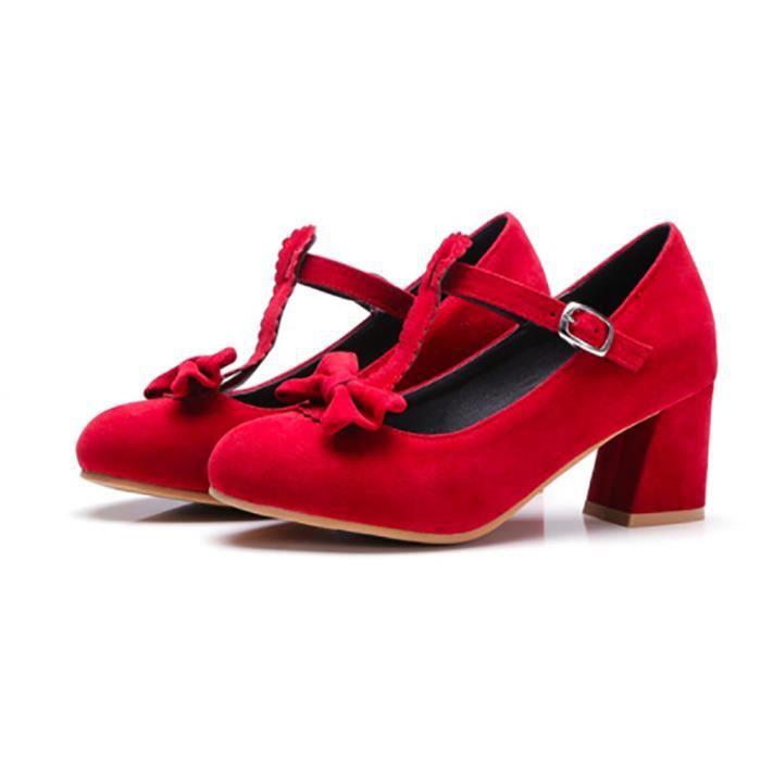 Chaussures Femmes - Escarpin Rouge