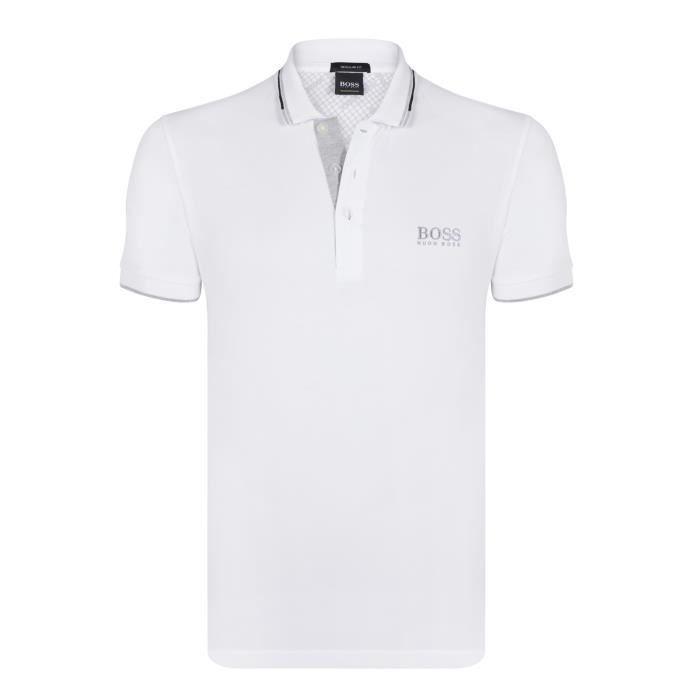 1a008c66 Hugo Boss - Polo Paddy Pro Blanc Regular Fit Blanc Blanc - Achat ...