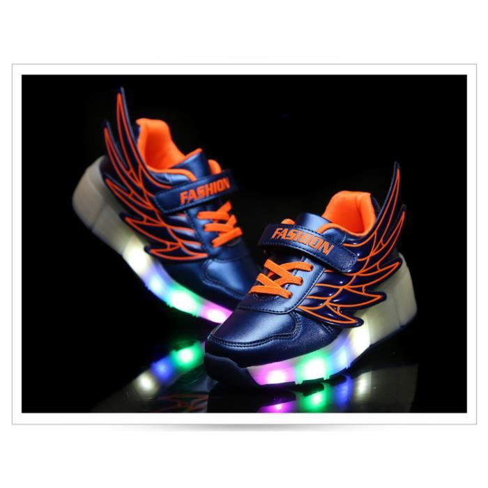 Sneakers Casual Chaussures LED top Enfants Enfants Lumineux Angel Light Haut Girls Boys Series Wings and Mode Rechargeable af4qU