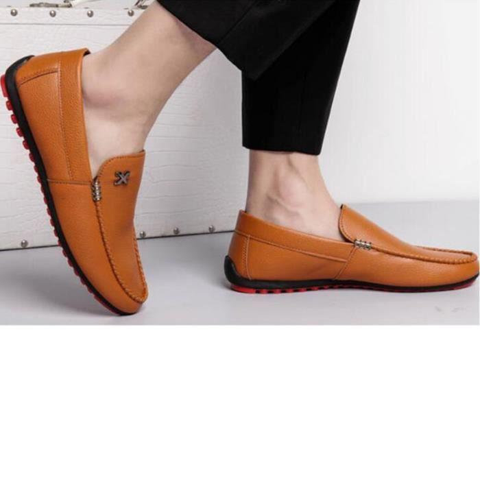 Moccasins Hommes Marque De Luxe Beau des chaussures de conduite Nouvelle Mode Brand Mocassin Homme Mode Plus De Couleur FDriDGC