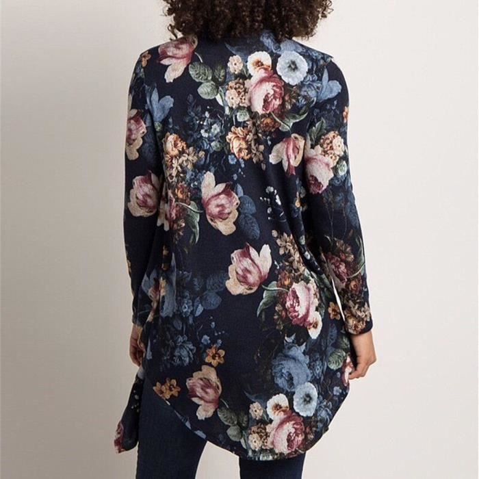 ®mgl5027 Flower Irrégularité Long Longues Femmes Fashion Manches Manteau 0SvvExq