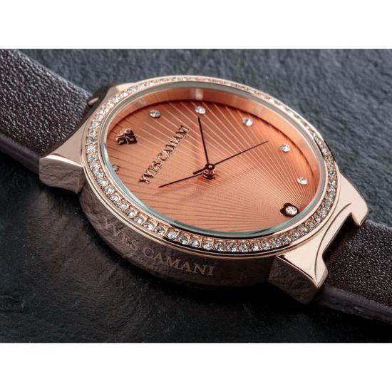 790924ca18 Yves camani toulon montre-bracelet quartz analogique rosegold cadran  rosegold boîtier en acier inoxydable brun lea 3I924M - Achat / Vente montre  yves camani ...