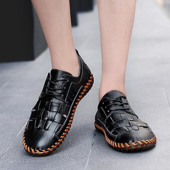 2018 Nouvelle Ete Taille Chaussures Marque Luxe 47 Cuir 38 Moccasin W0w8zxnAv