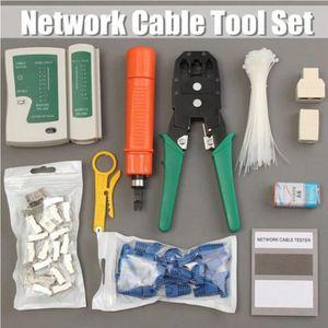 CÂBLE RÉSEAU  Réseau Ethernet LAN Kit Crimping Tool Set RJ45 Cat