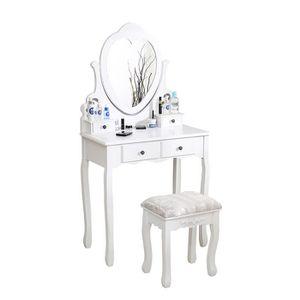 COIFFEUSE AG Coiffuese avec tabouret Table de maquillage - A