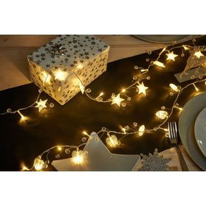 GUIRLANDE DE NOËL Guirlande de Noël 20 LED blanc chaud Etoiles ou cœ