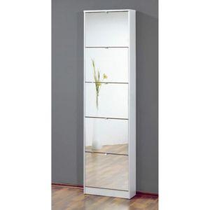 meuble chaussure avec miroir achat vente pas cher. Black Bedroom Furniture Sets. Home Design Ideas