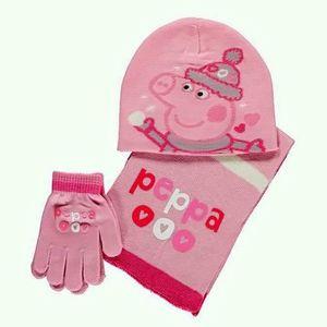 0f2c0744f4b ENSEMBLE BONNET GANT ECHARPE PEPPA PIG - Achat   Vente bonnet ...
