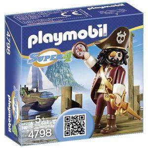 UNIVERS MINIATURE PLAYMOBIL 4798 - Super 4 - Barbe De Requin