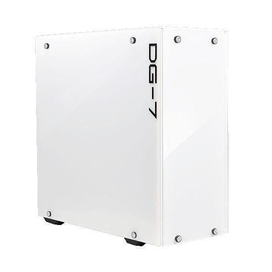 EVGA Boitier PC Gaming DG-75 - Blanc Alpin - Mid-Tower - 2 côtés en verre trempé - 156-F1-2022-KR