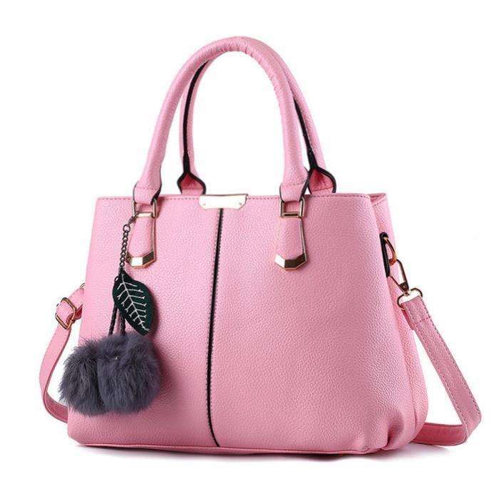 sac à main Sacs à main de mode Messenger Bag sac à bandoulièreSac sauvage Mme Sac à main cuir roseHaut qualité