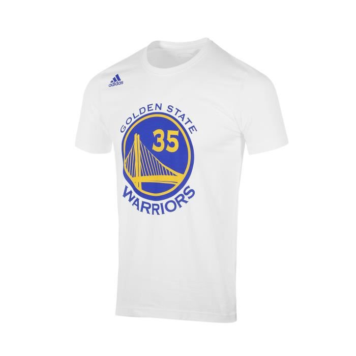 T shirt golden state warriors kevin durant n 35 blanc for Kevin durant golden state warriors t shirt