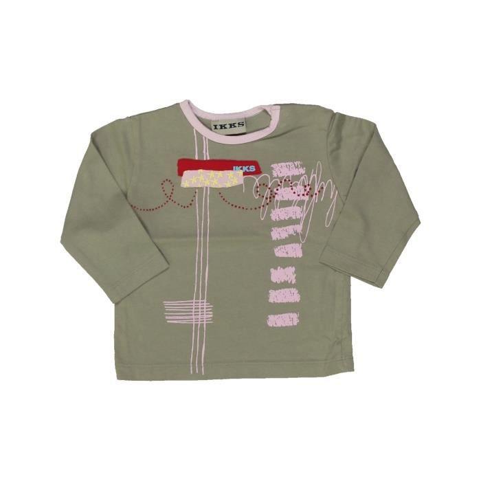 788173fa6f2a8 T-shirt manches longues bébé fille IKKS 12 mois marron hiver  836207  -207238703