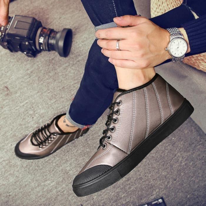 Skateshoes Homme Les étudiants de style de skate Automne - hiver Souliers simple d'Homme beige taille6.5 1TI9S