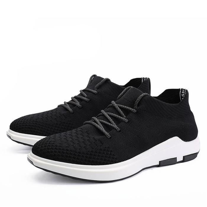 Chaussures de course en cuir simple couleur de la mode printemps homme RsFbdNv6