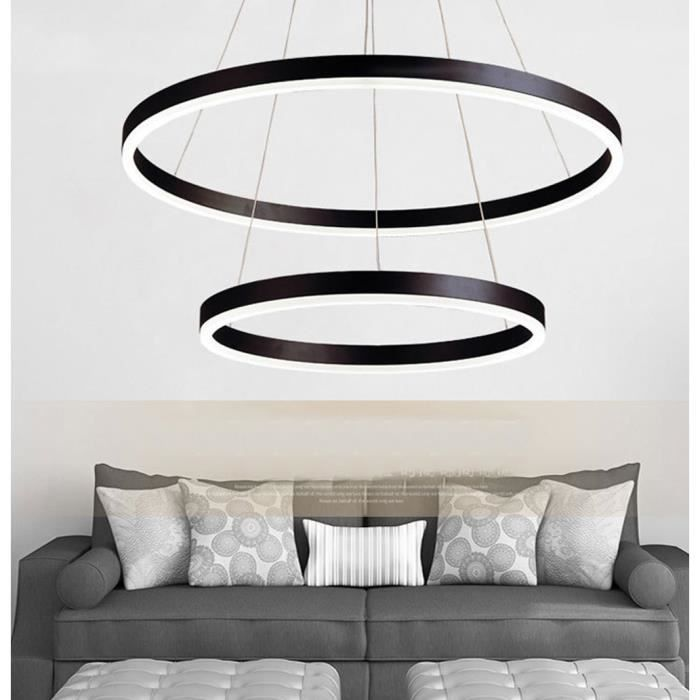 Hauteur Luster 2 Décorative Réglable Dimmable Bureau Télécommande Anneau Led Cuisine Design Suspension Plafond Lampe Salon Modern D92EWHI