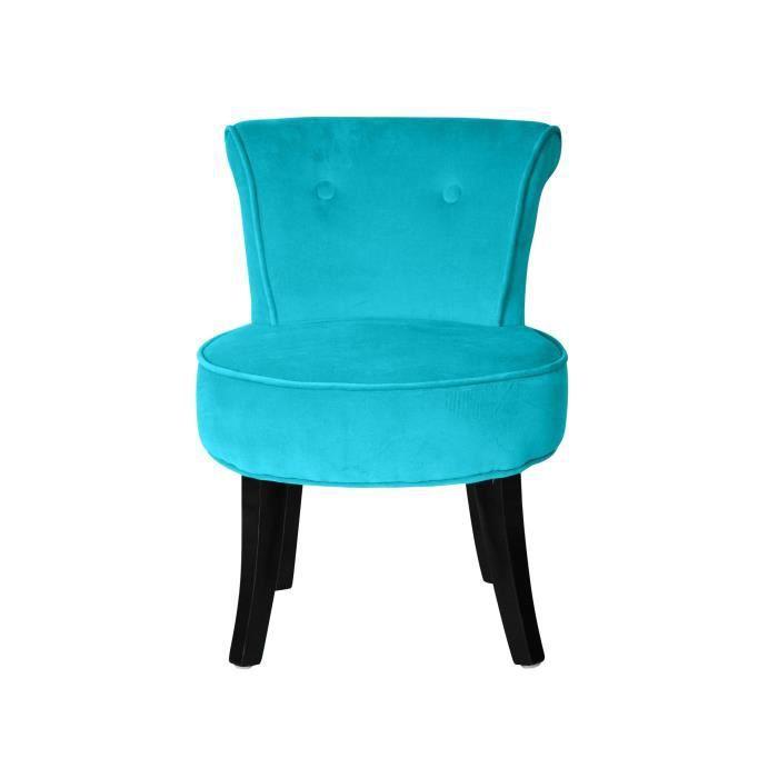 petit fauteuil crapaud velours turquoise louis achat vente fauteuil bleu cdiscount. Black Bedroom Furniture Sets. Home Design Ideas