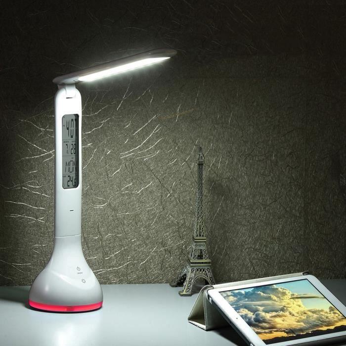 Avec Led Lampe Bureau Tactile HorlogeCalendrierTable De BedCox