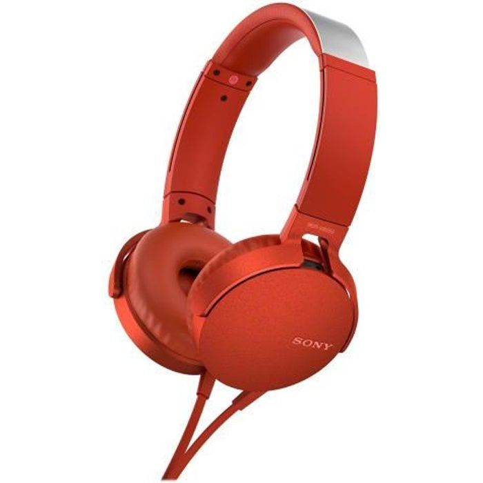 Sony - Casque Extra Bass™ Xb550ap Rouge