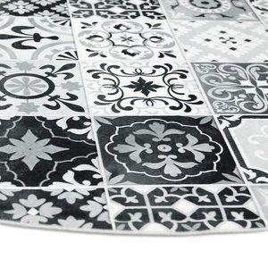 tapis motif carreaux ciment achat vente tapis motif carreaux ciment pas cher soldes d s. Black Bedroom Furniture Sets. Home Design Ideas