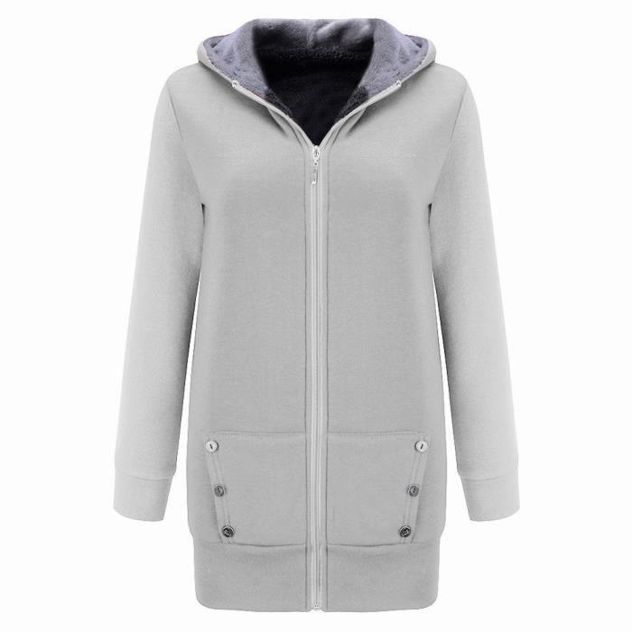 Outwear Hiver Épais Chaud Lansman Capuche Velours femmes Em7701357 Sweat Manteau Plus Veste fFWqqgpRc