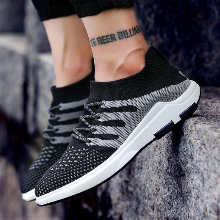 Hommes Chaussures de filet perméable à l'air Printemps et été homme Basket Mode Chaussures de course Antidérapant Plus Taille