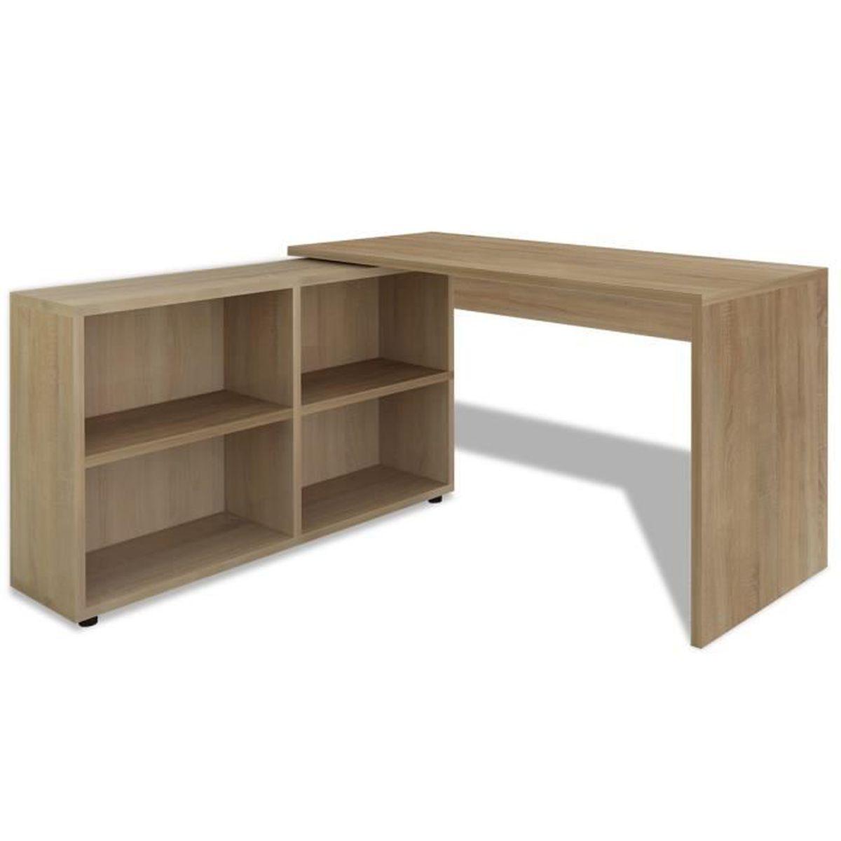 bureau angle 4 etageres + table ordinateur - achat / vente bureau