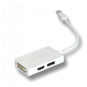 Adaptateur mini Display Port mâle / HDMI + DVI + Display Port femelle