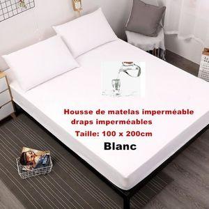 MATELAS Blanc - 100 x 200cm  Feuilles imperméables Housse