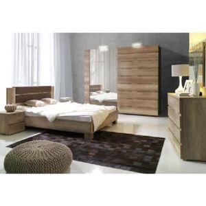 Chambre a coucher complete lit 180x200 cm - Achat / Vente pas cher