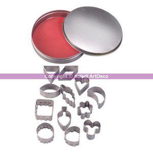 OUTILS DE MODELAGE Emporte-pièces, 12 formes, de 2,2 cm à 3,2 cm