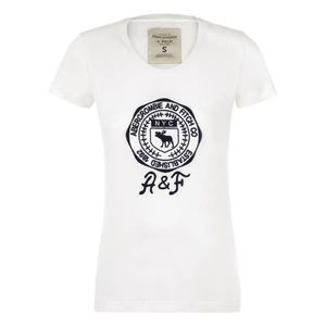 T-SHIRT ABERCROMBIE & FITCH Femme T-Shirt  Blanche