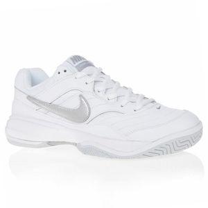 Chaussures De Lite Tennis Blanc Court Gris Nike Femme Chromé Et T1JF3Kcul