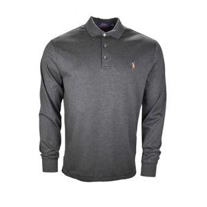 Polo manches longues Ralph Lauren gris pour homme - Couleur  Gris - Taille   M 94d9b1469b7a
