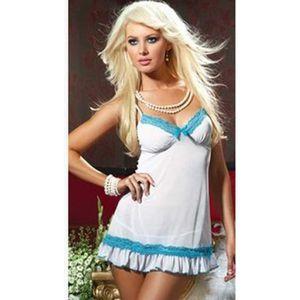 ENSEMBLE DE LINGERIE Lingerie Sexy femmes jupe ceinture chemise de nuit