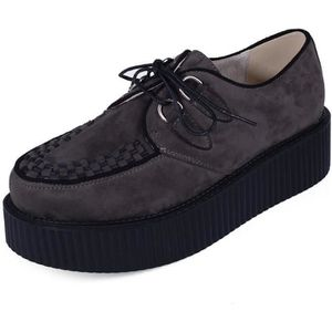 6919 Chaussures Lacets Ly Creeper Plateforme Homme Derby Cuir Punk rdCBoex