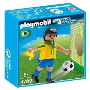 UNIVERS MINIATURE PLAYMOBIL 4799 Joueur Equipe Brésil