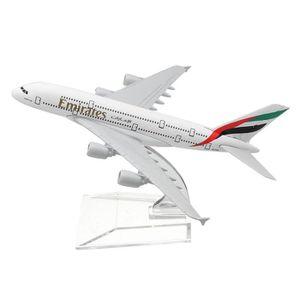AVION - HÉLICO TEMPSA 16cm Métal Avion Modèle A380 EMIRATES Échel