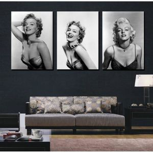 TABLEAU - TOILE Home Décor Wall Art 3 Pieces Marilyn Monroe Poster
