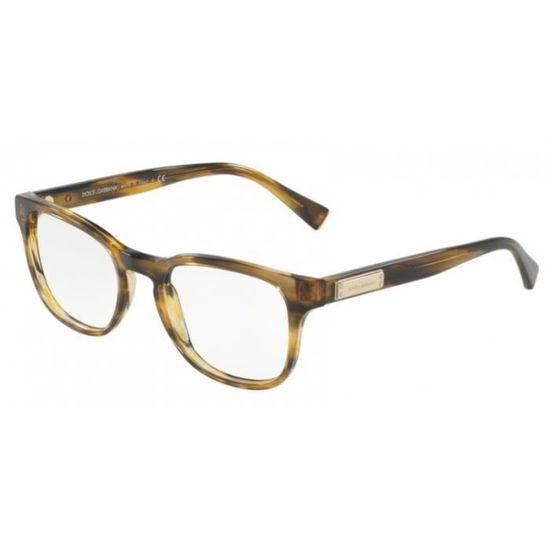 bd5263328ae7f5 Lunettes de vue Dolce   Gabbana DG3260 3063 Striped Brown 52-20 Brun -  Achat   Vente lunettes de vue Lunettes de vue Dolce   Mixte Adulte -  Cdiscoun