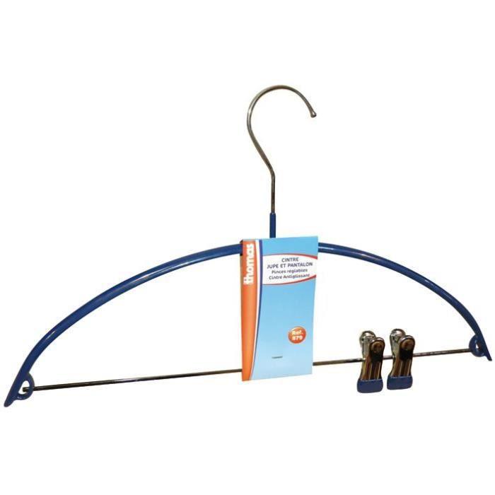 Cintre antidérapant avec pinces - L : 42 cm
