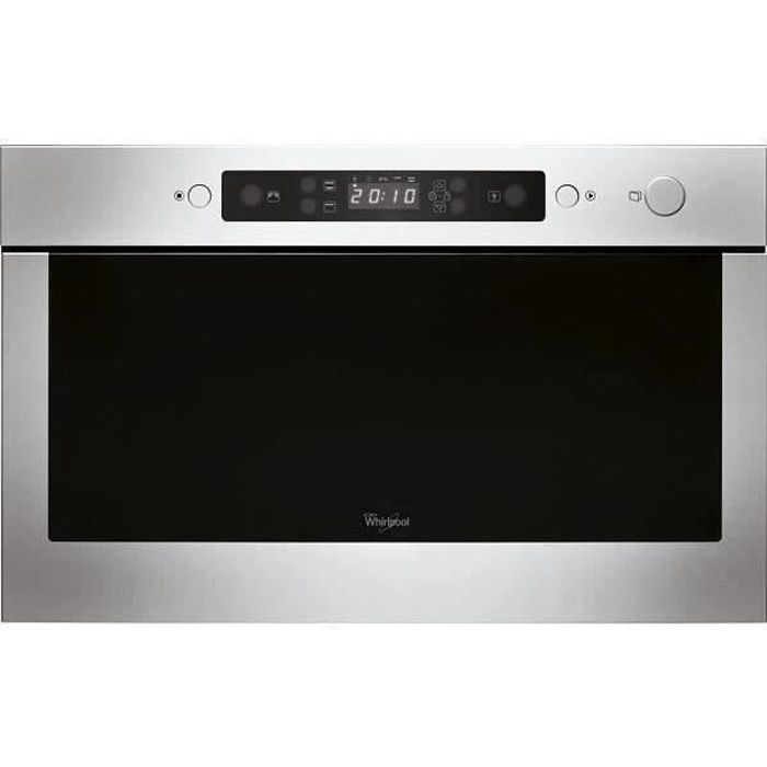 WHIRLPOOL AMW423IX - Micro-ondes encastrable - 22L - 750W - Gris