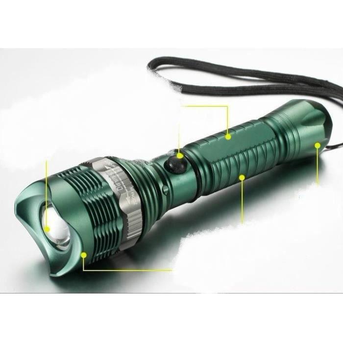 Lampe De Poche Lampe Torche Led Puissante Cree Zoomable 4w 3 Mode D